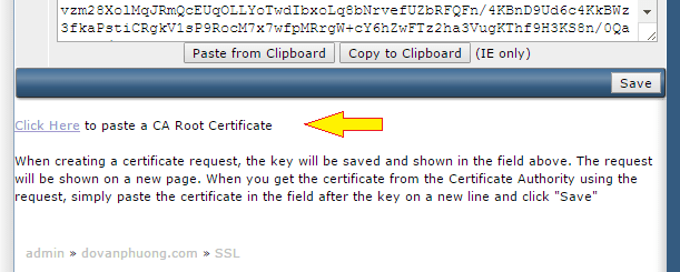 CA Root Certificate