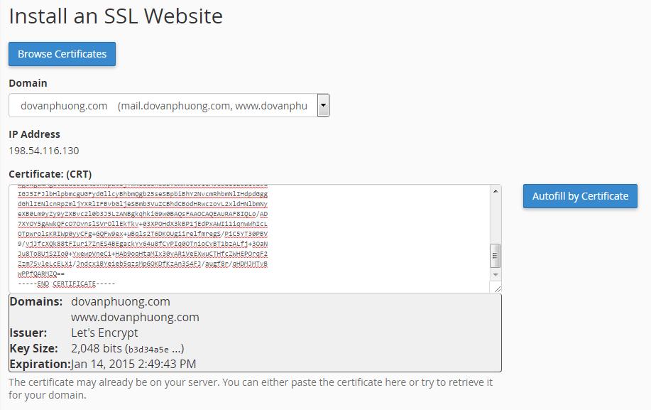Cấu hình SSL