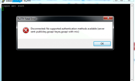 Error no supported authentication methods available
