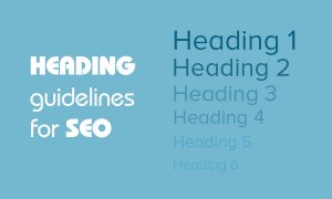 Heading guidelines for SEO