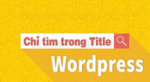 Search in Title Wordpress