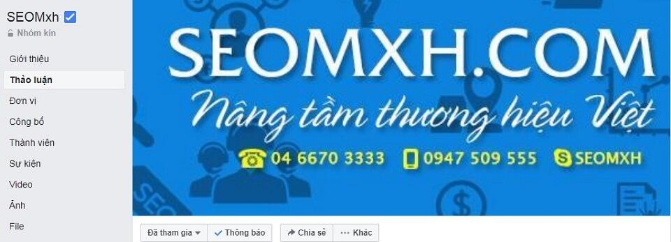 Cộng đồng seomxh trên Facebook
