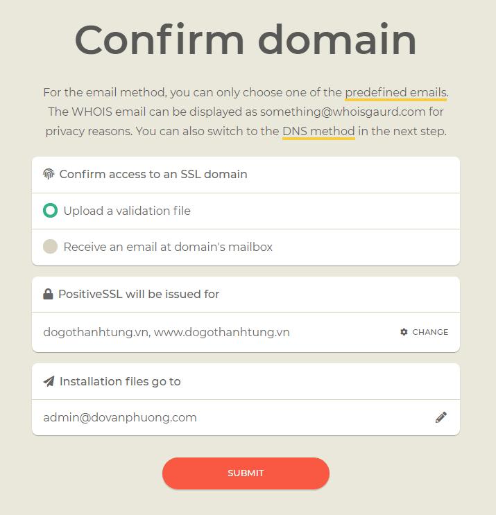 Xác minh SSL cho tên miền